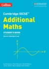 Image for Cambridge IGCSE additional mathsStudent's book