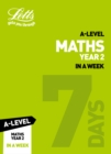 Image for A-level maths in a weekYear 2