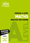 Image for Letts Edexcel A-level maths practice test papers