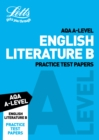 Image for Letts AQA A-level English literature: Practice test papers