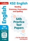 Image for KS2 English reading and SPAG SATs practice test papers  : 2018 tests