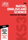 Image for KS3 maths, English and science: Practice test papers