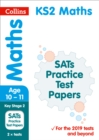 Image for KS2 maths SATS practice test papers  : 2019 tests