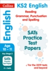 Image for KS2 English reading, grammar, punctuation and spelling SATs practice test papers  : 2019 tests