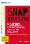 Image for N5/Higher English: Reading for understanding, analysis and evaluation