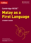 Image for Cambridge IGCSE Malay as a first language: Student's book