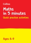 Image for Year 4 Maths in 5 Minutes (Age 8-9) : Ideal for Use at Home
