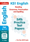 Image for English reading, grammar, punctuation and spelling SATs practice test papers 2019