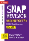 Image for AQA GCSE 9-1 English literature: Unseen poetry