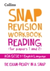 Image for Reading (for papers 1 and 2)  : new GCSE grade 9-1 English literature AQA: Workbook