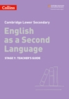 Image for Lower secondary English as a second languageStage 7,: Teacher's guide
