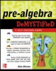 Image for Pre-algebra demystified