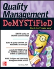 Image for Quality management demystified