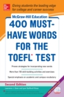 Image for McGraw-Hill Education 400 must-have words for the TOEFL