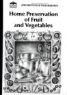 Image for Home Preservation of Fruit and Vegetables