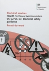 Image for Electrical safety guidance : Permit-to-work