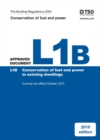 Image for The Building Regulations 2000Approved document L1B,: Conservation of fuel and power