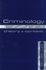 Image for Criminology  : theory and context