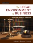 Image for The legal environment of business  : a critical thinking approach