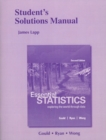 Image for Student's solutions manual for Essential statistics, second edition, Robert Gould, Colleen Ryan, Rebecca Wong