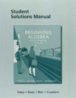 Image for Student solutions manual for beginning algebra  : early graphing