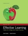 Image for Keys to effective learning  : habits for college and career success