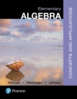 Image for Elementary algebra  : concepts & applications