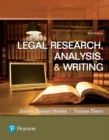 Image for Legal research, analysis, and writing