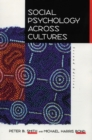 Image for Social psychology across cultures