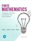 Image for Finite mathematics for business, economics, life sciences, and social sciences