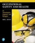 Image for Occupational safety and health for technologists, engineers, and managers