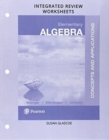 Image for Worksheets for Elementary Algebra : Concepts and Applications Integrated Review