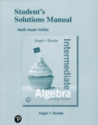 Image for Student's solutions manual for intermediate algebra for college students