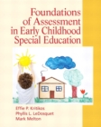 Image for Foundations of assessment in early childhood special education