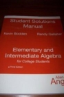 Image for Student Solutions Manual for Elementary and Intermediate Algebra for College Students