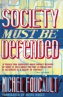"Image for ""Society must be defended""  : lectures at the Colláege de France, 1975-76"