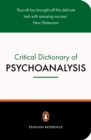 Image for A critical dictionary of psychoanalysis