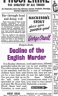 Image for Decline of the English murder