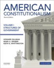 Image for American Constitutionalism Volume I Structures of Government