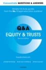 Image for Concentrate Questions and Answers Equity and Trusts: Law Q&A Revision and Study Guide
