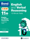 Image for English & verbal reasoning  : CEM 10 minute tests: 8-9 years