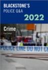 Image for Blackstone's police Q&A 2022Volume 1,: Crime 2022