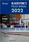 Image for Blackstone's police manuals 2022Volume 1,: Crime