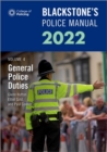 Image for Blackstone's police manuals 2022Volume 4,: General police duties