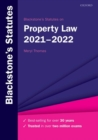 Image for Blackstone's statutes on property law 2021-2022