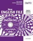 Image for New English File: Beginner: Workbook with MultiROM Pack : Six-level general English course for adults