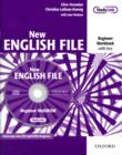 Image for New English File: Beginner: Workbook with key and MultiROM Pack : Six-level general English course for adults