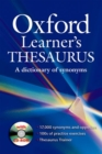 Image for Oxford learner's thesaurus  : a dictionary of synonyms