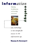 Image for Information ecology  : mastering the information and knowledge environment