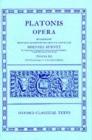 Image for Plato Opera Vol. III : (Thg., Chrm., Laches, Lysis: Euthd., Prot., Gorg., Meno; Hp. Ma. et Min., Io, Mnx.)
